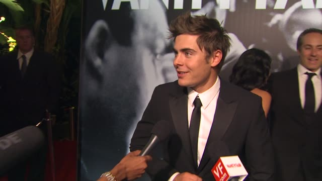 zach efron at the 2010 vanity fair oscar party hosted by graydon carter at west hollywood ca - graydon carter stock videos and b-roll footage