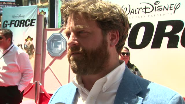 zach galifianakis on the film, his character, if he trained for the film, challenges and rewards at the 'g-force' premiere at hollywood ca. - g force stock videos & royalty-free footage