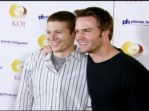 Zach Gilford and Scott Porter at the KOI Las Vegas Grand Opening at Planet Hollywood in Las Vegas Nevada on November 9 2007
