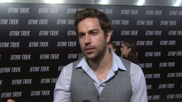 Zach Levi on the appeal of Star Trek at the 'Star Trek' Premiere at Hollywood CA