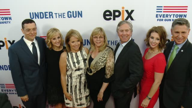zach silk stephanie soechtig katie couric sandy phillips mark greenberg shannon watts and dan gross at the under the gun los angeles premiere at... - mark watts stock videos & royalty-free footage