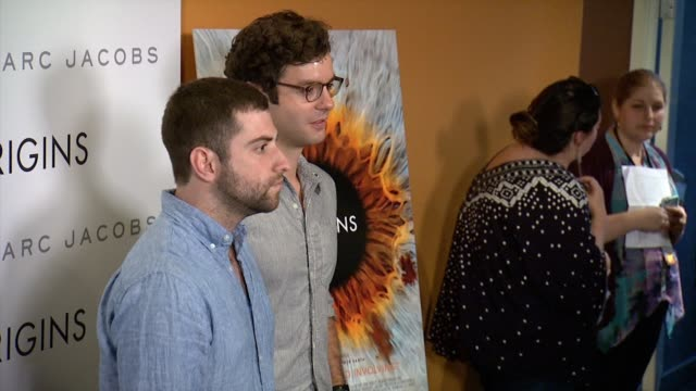 """zach wigon and luca joaquin at fox searchlight pictures """"i origins"""" new york premiere presented by marc by marc jacobs at landmark sunshine cinema on... - landmark sunshine theater stock videos & royalty-free footage"""