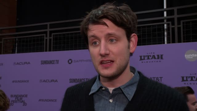"interview zach woods on the plot her character the cast and stories from set audience takeaways at the ""downhill"" sundance premiere presented by... - sundance film festival stock videos & royalty-free footage"