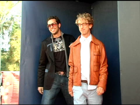 Zachary Levi and Andy Dick at the 2005 Teen Choice Awards Exclusive onsite Portrait Studio at the Universal Amphitheatre in Universal City California...