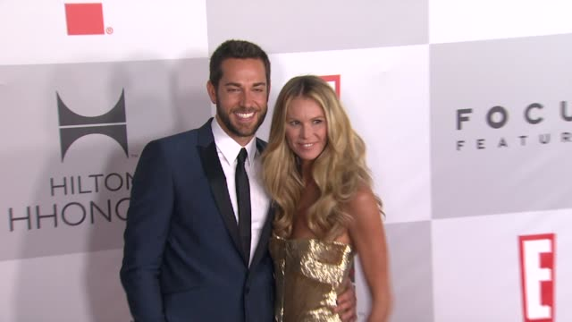 vídeos de stock e filmes b-roll de zachary levi and elle macpherson at nbcuniversal's 69th annual golden globe afterparty in beverly hills ca on 1/15/12 - prémio globo de ouro
