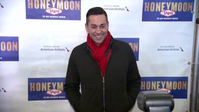 Zachary Levi at 'Honeymoon In Vegas' Broadway Opening Night at Nederlander Theatre on January 15 2015 in New York City