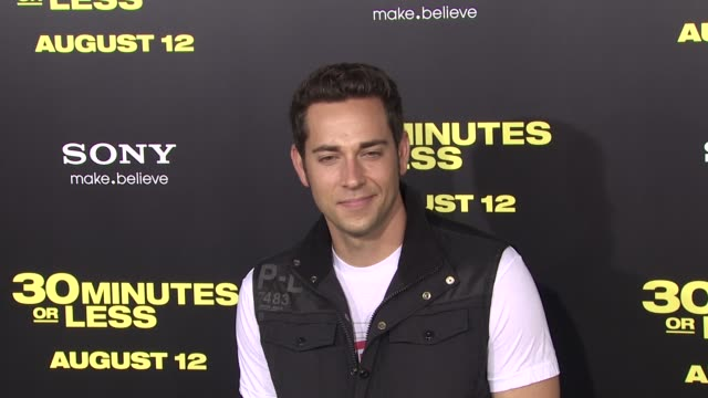Zachary Levi at the '30 Minutes Or Less' Los Angeles Premiere at Hollywood CA