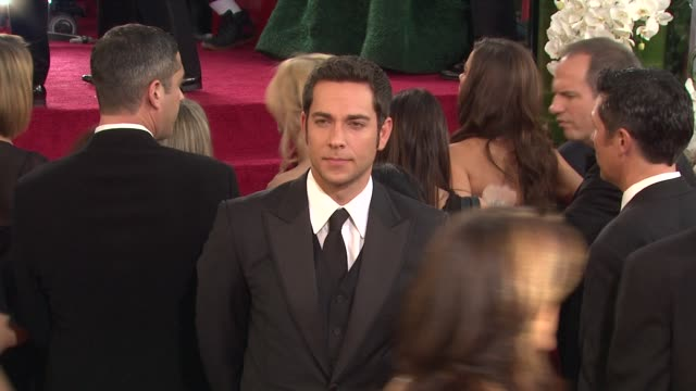 Zachary Levi at the 68th Annual Golden Globe Awards Arrivals Part 2 at Beverly Hills CA