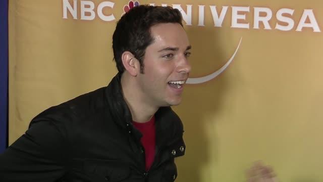 Zachary Levi at the NBC Universal Press Tour AllStar Party at Pasadena CA