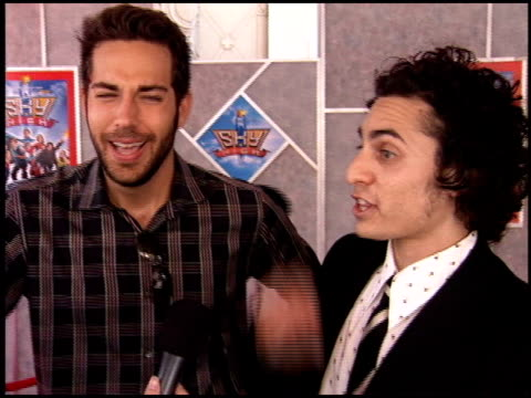 Zachary Levi at the Sky High Premiere at the El Capitan Theatre in Hollywood California on July 24 2005
