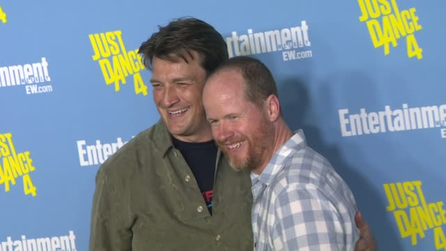 vídeos y material grabado en eventos de stock de zachary levi nathan fillion joss whedon at entertainment weekly's 6th annual comiccon celebration sponsored by just dance 4 on 7/14/12 in san diego ca - nathan fillion
