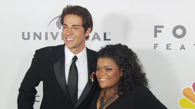 zachary levi, yvette nicole brown at the nbc universal 67th annual golden globe awards after-party at beverly hills ca. - levi's stock videos & royalty-free footage