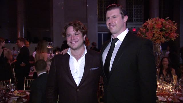 zachary pym williams and matthew reeve at the christopher dana reeve foundation hosts 25th anniversary a magical evening gala at cipriani wall street... - christopher and dana reeve foundation stock videos and b-roll footage