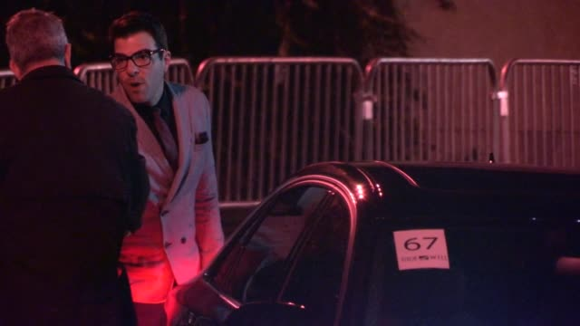 zachary quinto arrives at the trevor project's 2012 'trevor live' in hollywood 12/02/12 - zachary quinto stock videos and b-roll footage