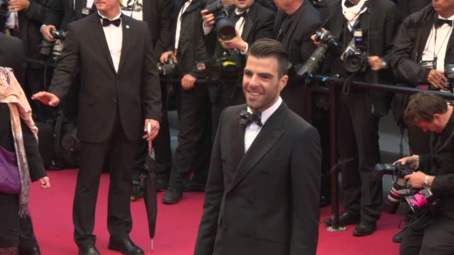 zachary quinto at 'all is lost' red carpet 5/22/2013 in cannes france - zachary quinto stock videos and b-roll footage