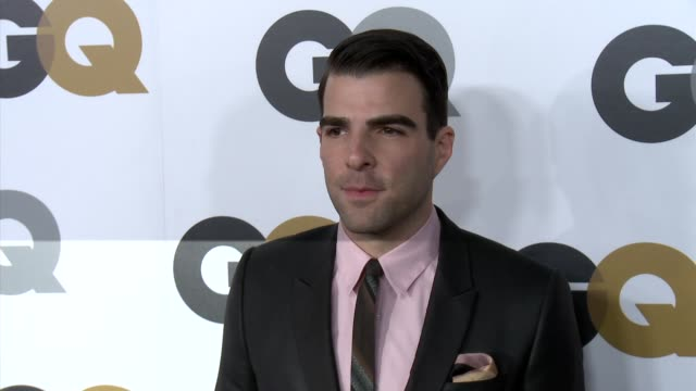 zachary quinto at gq's 2012 men of the year party on 11/13/12 in los angeles ca - zachary quinto stock videos and b-roll footage