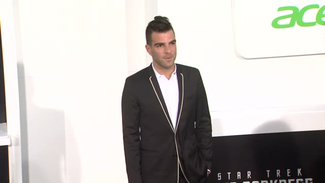 zachary quinto at star trek into darkness los angeles premiere 5/14/2013 in hollywood ca - zachary quinto stock videos and b-roll footage