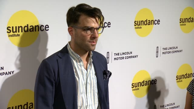 zachary quinto at sundance institute new york benefit 2014 at stage 37 on june 04 2014 in new york city - zachary quinto stock videos and b-roll footage