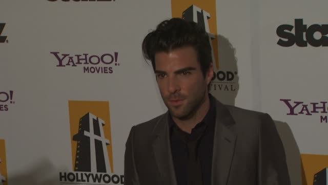 vídeos de stock, filmes e b-roll de zachary quinto at the 13th annual hollywood awards gala at beverly hills ca - zachary quinto