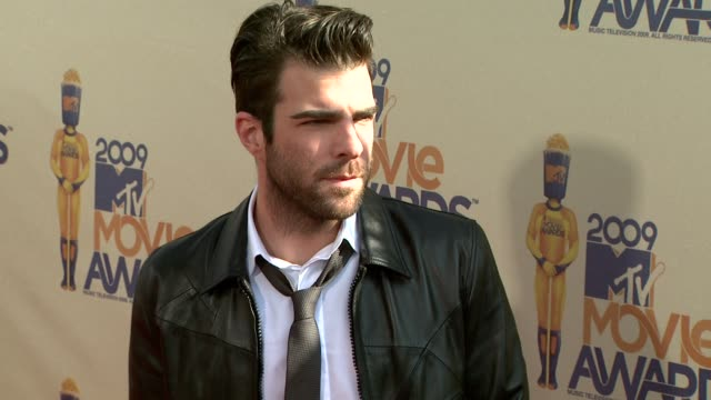 zachary quinto at the 18th annual mtv movie awards at universal city ca - zachary quinto stock videos and b-roll footage