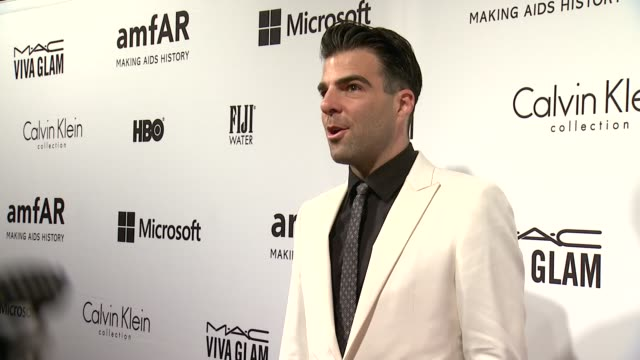 zachary quinto at the amfar inspiration gala new york 2014 at the plaza hotel on june 10 2014 in new york city - zachary quinto stock videos and b-roll footage