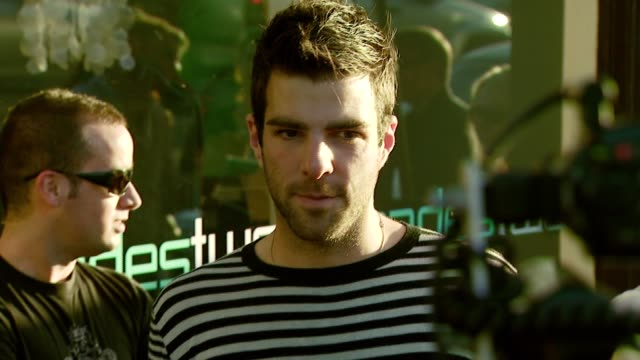 vídeos de stock, filmes e b-roll de zachary quinto at the decadestwo retailer celebrates opening of expanded space at decadestwo in los angeles california on july 18 2007 - zachary quinto