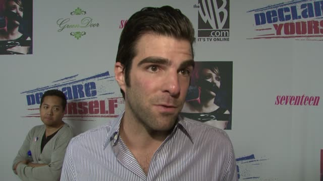 zachary quinto at the declare yourself's 'last call' hollywood party at los angeles ca - zachary quinto stock videos and b-roll footage