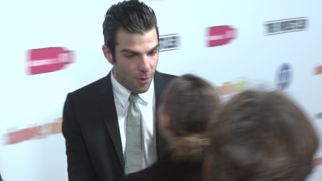 zachary quinto at the fox searchlight's 'slumdog millionaire' and 'the wrestler' party at los angeles ca - zachary quinto stock videos and b-roll footage