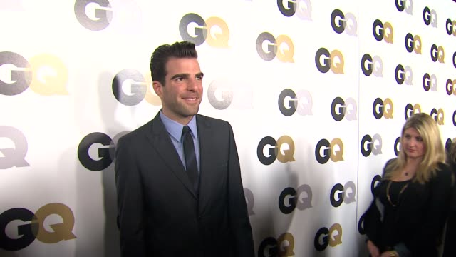 zachary quinto at the gq's 2011 'men of the year' party at los angeles ca - zachary quinto stock videos and b-roll footage