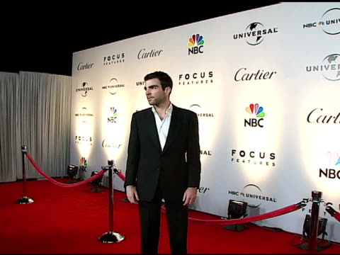 zachary quinto at the nbc universal and focus features 2007 golden globes party on january 15 2007 - zachary quinto stock videos and b-roll footage