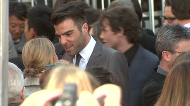 zachary quinto at the 'star trek' premiere at hollywood ca - zachary quinto stock videos and b-roll footage