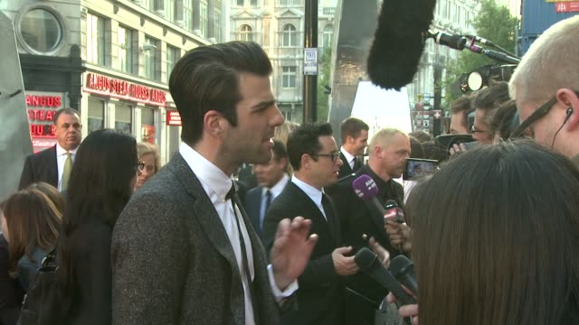 zachary quinto at the star trek uk premiere at london - zachary quinto stock videos and b-roll footage