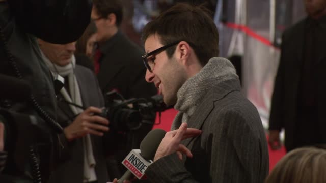 Zachary Quinto at the 'Sweeney Todd The Demon Barber of Fleet Street' New York Premiere at Ziegfeld Theatre in New York New York on December 3 2007