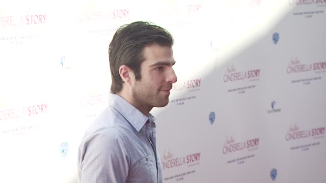 zachary quinto at the the premiere of warner premiere's another cinderella story at los angeles ca - cinderella stock videos & royalty-free footage