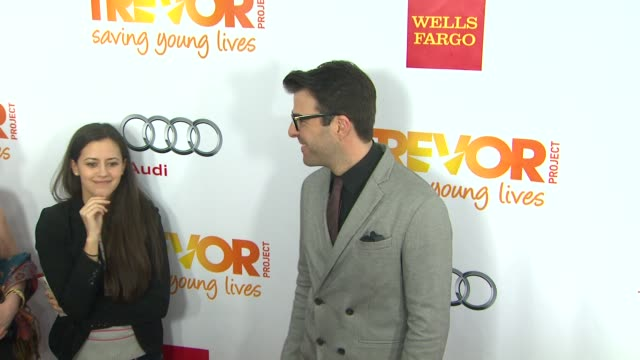 zachary quinto at the trevor project's 2012 'trevor live' honoring katy perry on 12/2/12 in los angeles ca - zachary quinto stock videos and b-roll footage
