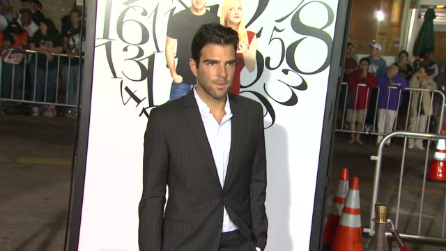 zachary quinto at the 'what's your number' premiere at westwood ca - zachary quinto stock videos and b-roll footage