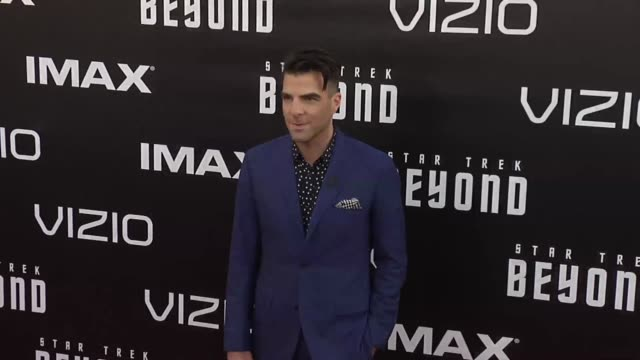zachary quinto attends the premiere of paramount pictures' 'star trek beyond' at embarcadero marina park south on july 20 2016 in san diego... - zachary quinto stock videos and b-roll footage