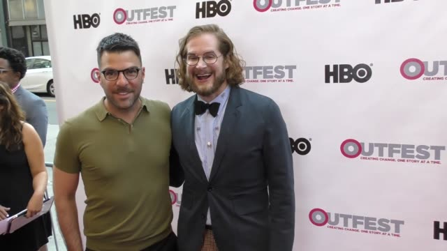 vídeos de stock, filmes e b-roll de zachary quinto bryan fuller at the 2017 outfest los angeles lgbt film festival opening night gala of god's own country at orpheum theatre on july 06... - zachary quinto