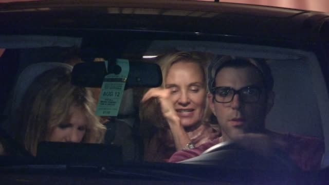 zachary quinto chloe sevigny and jessica lange depart chateau marmont in west hollywood 08/11/12 - zachary quinto stock videos and b-roll footage