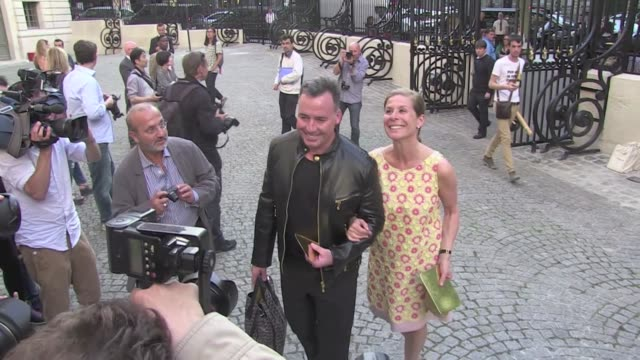 zachary quinto david furnish menara suvari delphine chanéac at 2013 versace haute couture show in paris paris france 30th june 2013 - 2013 stock videos & royalty-free footage