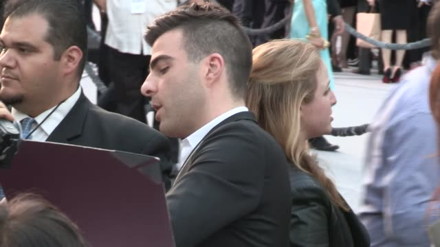 zachary quinto greets fans at the star trek into darkness premiere in hollywood 05/14/13 - zachary quinto stock videos and b-roll footage