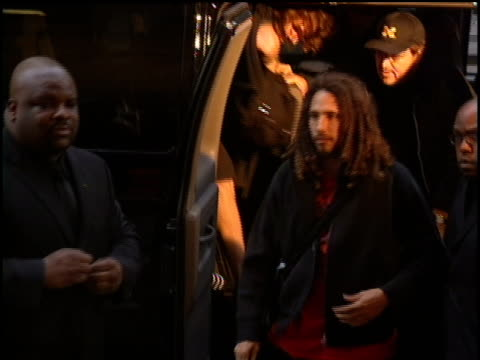 zack de la rocha and rest of rage against the machine arrive at the 2000 video music awards at radio city music hall - radio city music hall stock videos and b-roll footage
