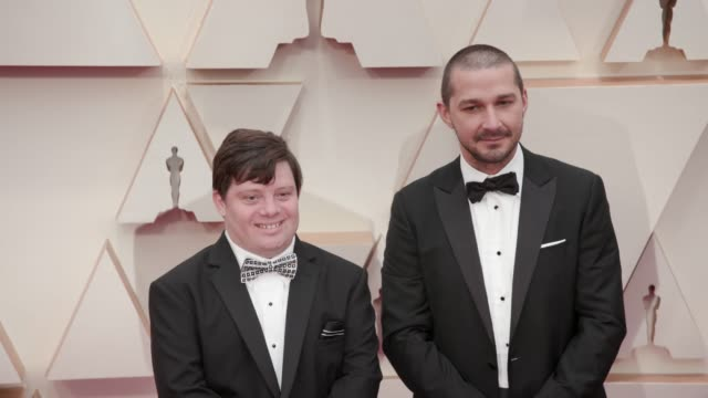 zack gottsagen and shia labeouf at the 92nd annual academy awards at dolby theatre on february 09, 2020 in hollywood, california. - shia labeouf stock videos & royalty-free footage