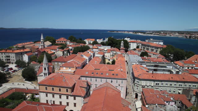 stockvideo's en b-roll-footage met zadar, view of the city and the adriatic sea - kroatië