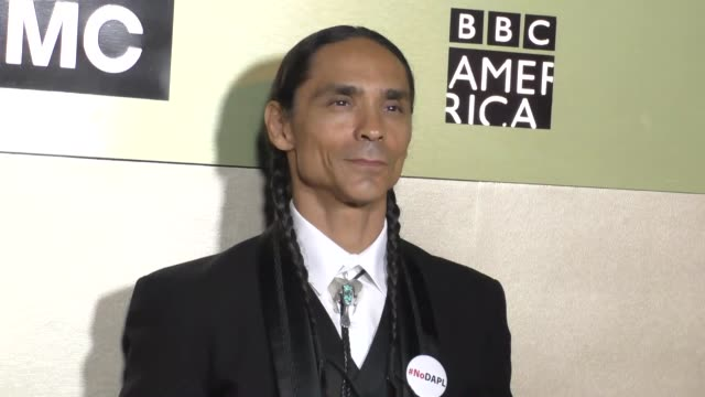 Zahn McClarnon at the AMC Networks Emmy After Party at BOA Steakhouse in West Hollywood Celebrity Sightings on September 18 2016 in Los Angeles...