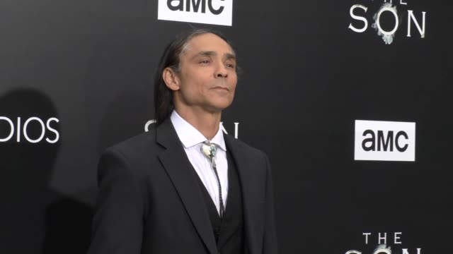 Zahn McClarnon at the Premiere Of AMC's 'The Son' on April 03 2017 in Hollywood California