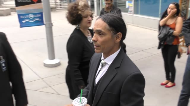 Zahn McClarnon greeting fans before The Son Premiere at ArcLight Theatre in Hollywood in Celebrity Sightings in Los Angeles
