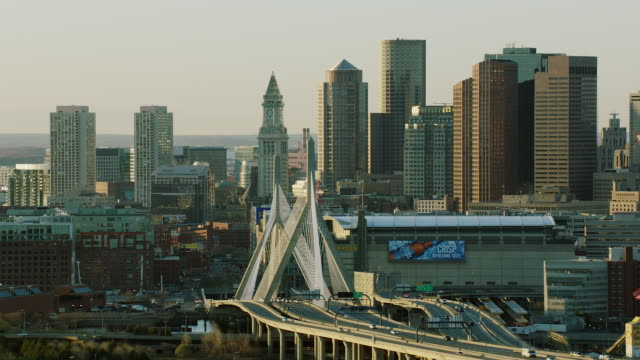 Zakim Bridge And Downtown Boston