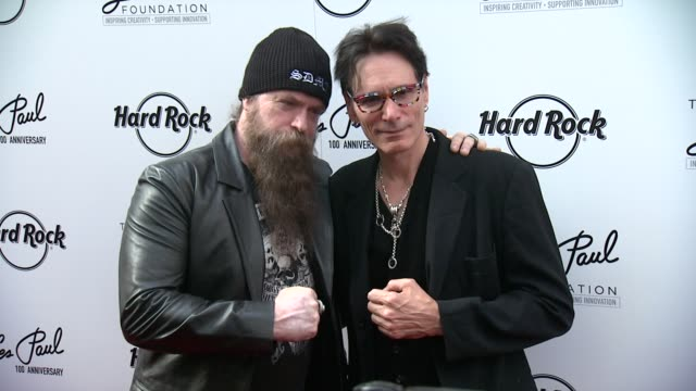 Zakk Wylde and Steve Vai at Les Paul 100th Anniversary Celebration Arrivals at Hard Rock Cafe New York on June 09 2015 in New York City