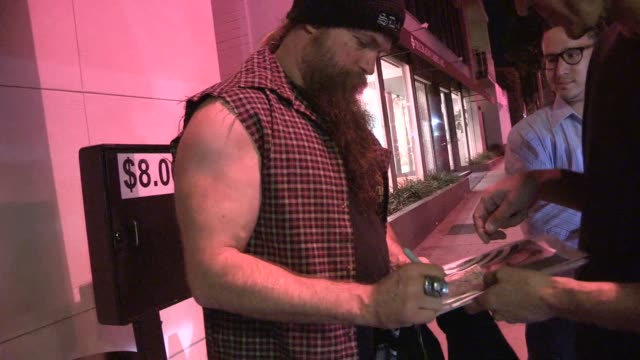 Zakk Wylde greets fans while departing Craigs in West Hollywood in Celebrity Sightings in Los Angeles